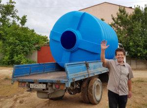 Емкости баки бочки для воды пластиковые купить в Крыму цена фото
