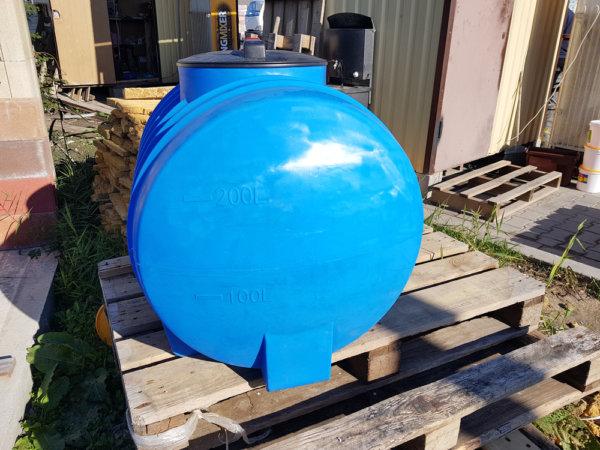Емкость бак для воды G 250 литров горизонтальная Гранд Пласт
