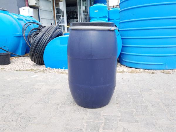 Бочка пластиковая Open Top 127 литров с крышкой и хомутом
