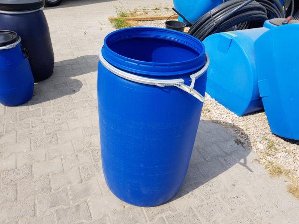 Бочка пластиковая Open Top 227 литров с крышкой и хомутом