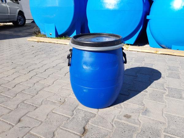 Бочка пластиковая Open Top 48 литров с крышкой и хомутом