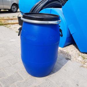 Бочка пластиковая Open Top 65 литров с крышкой и хомутом