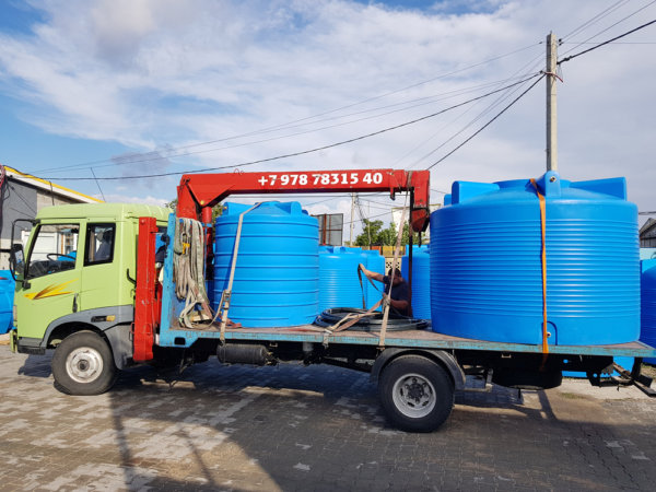 Емкость бак для воды V 6000 литров вертикальная Гранд Пласт