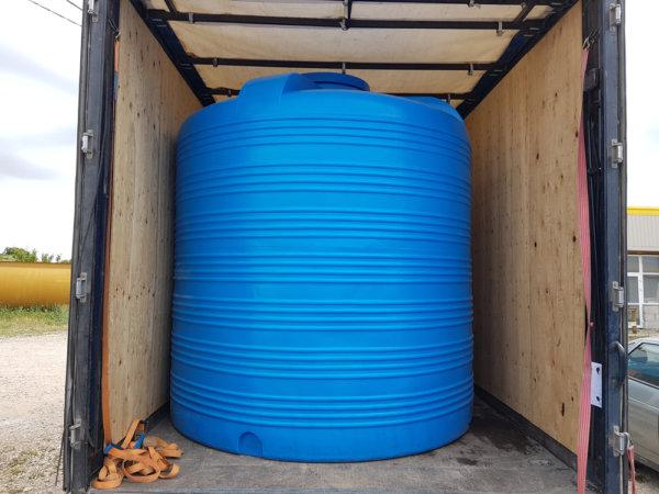 Емкость бак для воды V 8000 литров вертикальная КрымХимПласт