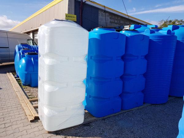 Емкость для воды BK 1000 литров вертикальная белая КрымХимПласт
