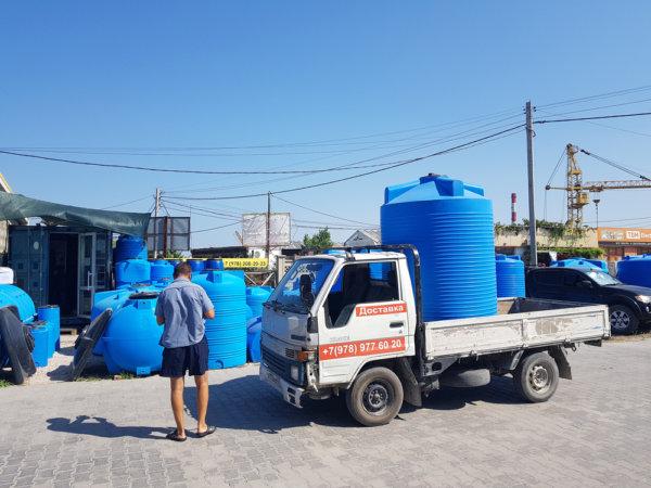 Емкость для воды V 3000 литров вертикальная Гранд Пласт купить в Севастополе