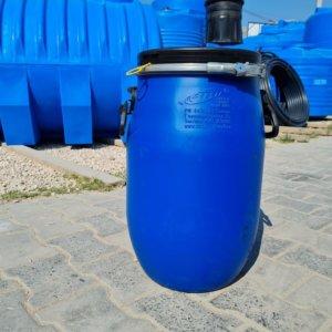 Бочка пластиковая 30 литров с крышкой и хомутом купить Севастополе