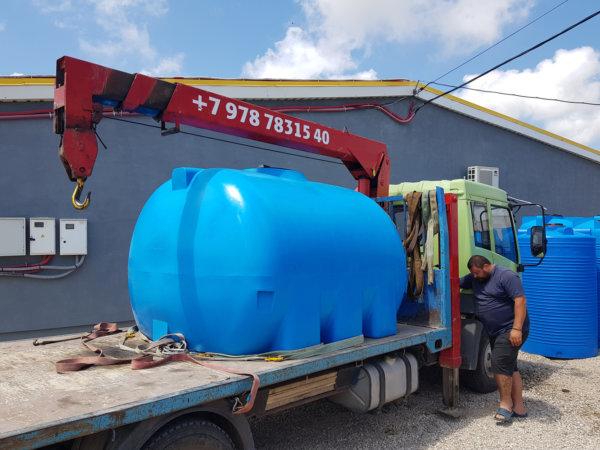 Емкость баки для воды G 5000 литров горизонтальная КрымХимПласт