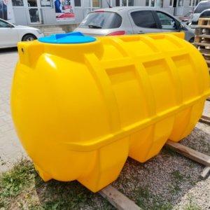 Емкость для воды 2 куба транспортировочная горизонтальная КрымХимПласт