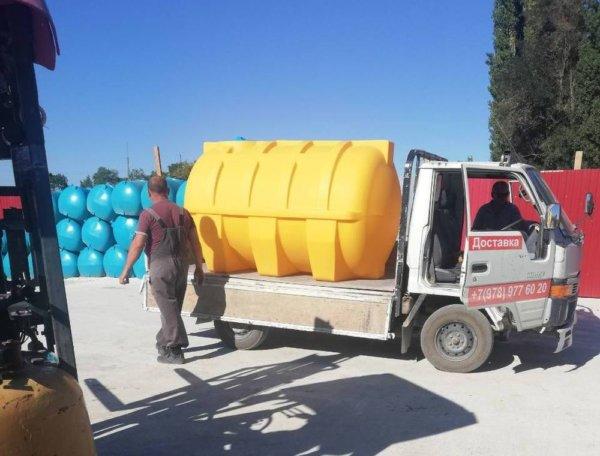 Емкость для воды 3 куба транспортировочная горизонтальная КрымХимПласт