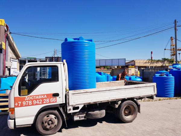 Емкость для воды V 1500 литров вертикальная Гранд Пласт